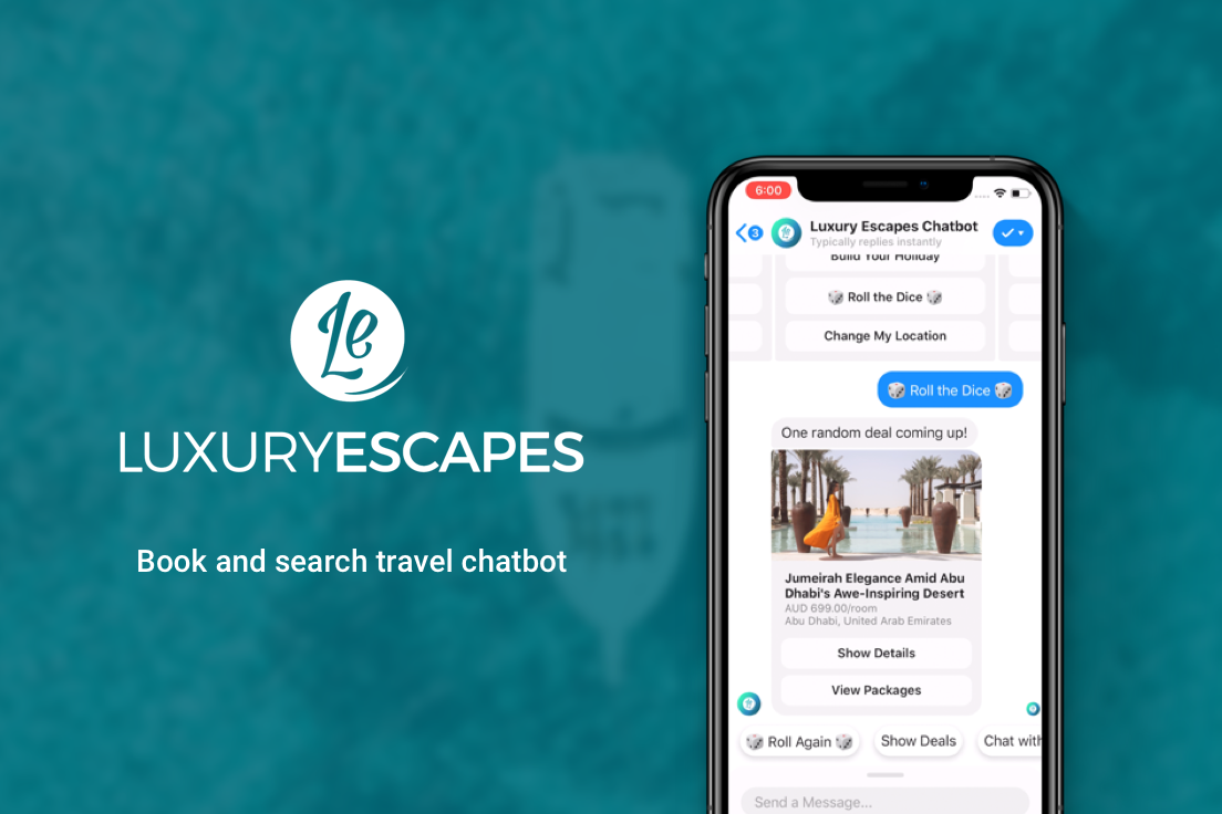 Luxury Escapes Book and search travel chatbot