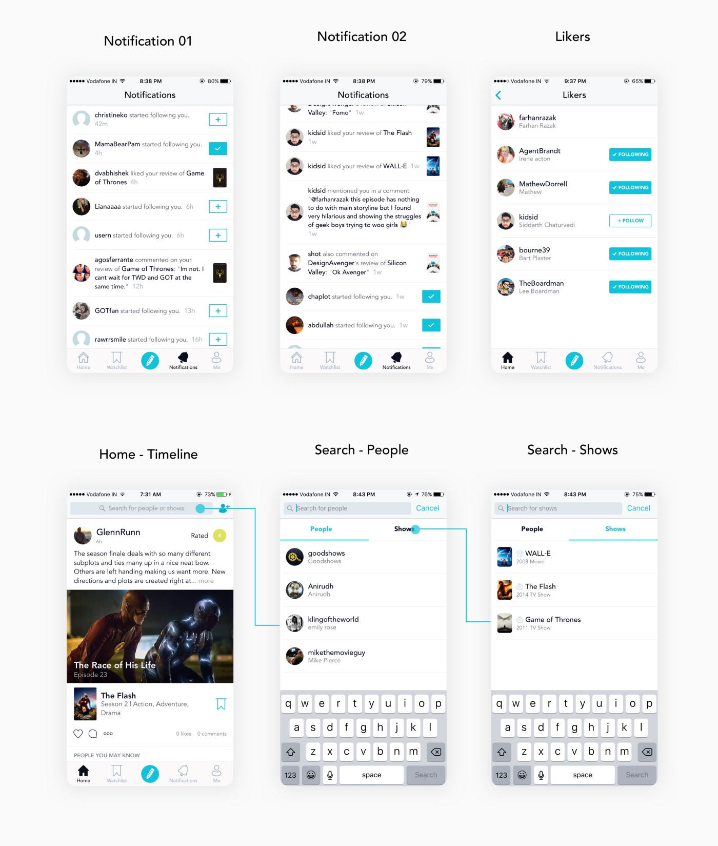 How we built Goodshows App🍿 — design process, challenges, and