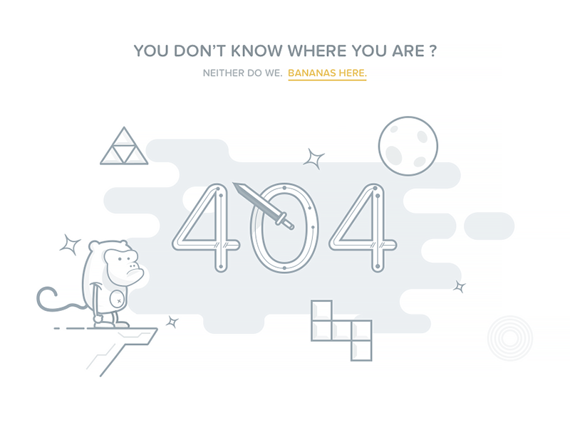 404 Page Template Codepen