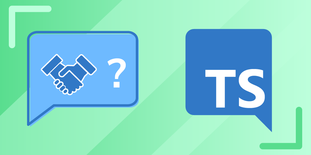 "graphic showing a handshake, a question mark, and the letters ""TS"""