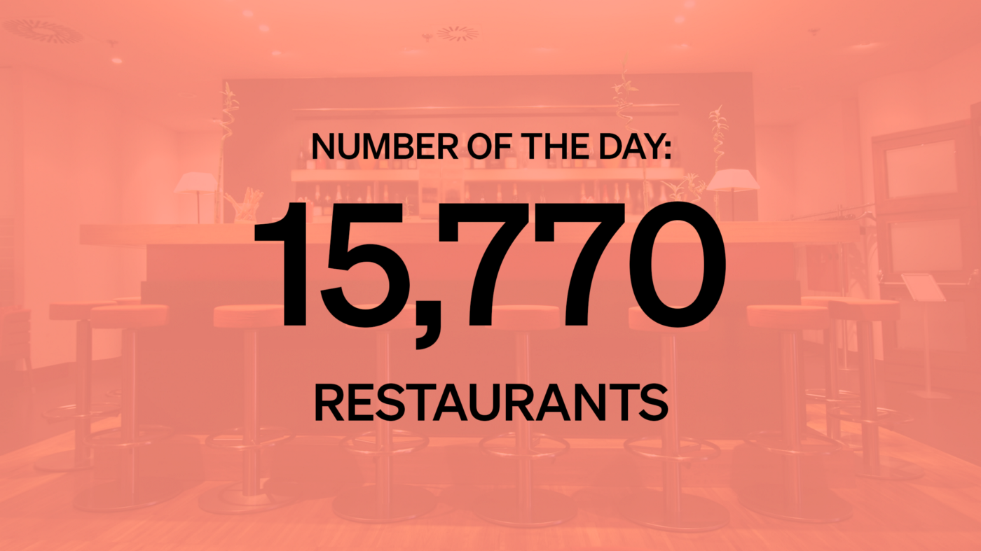 Number of the Day: 15,770 Restaurants