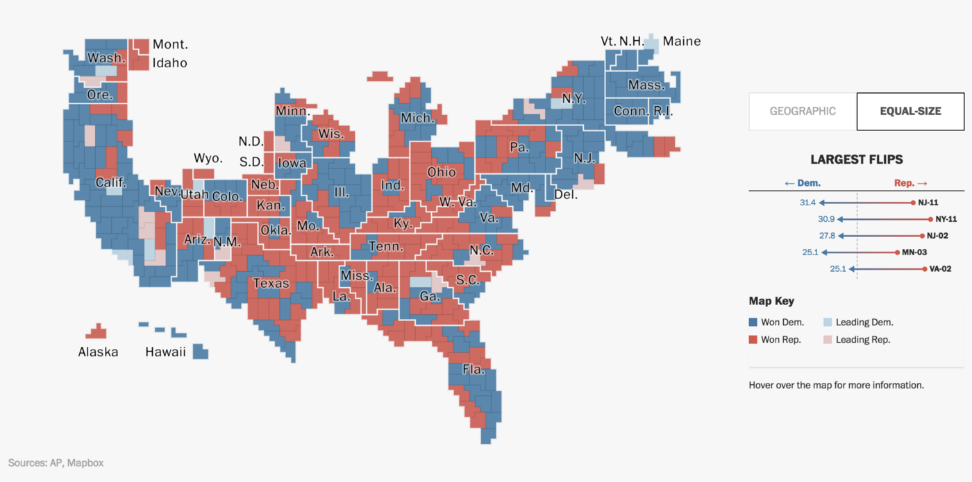 Washington Post\'s Electoral Maps: How we built it - Points of interest