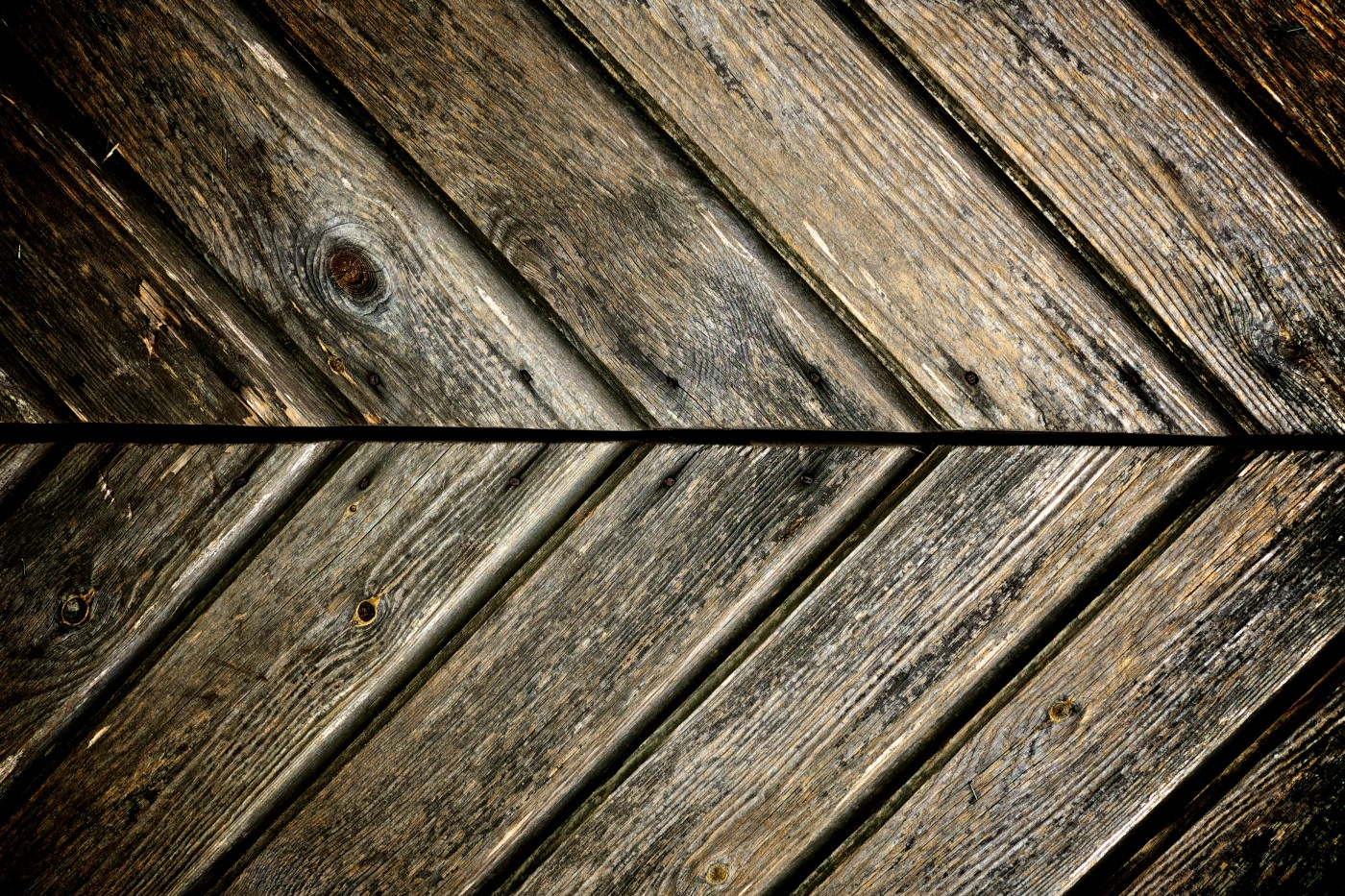 Lines on wood suggesting progress