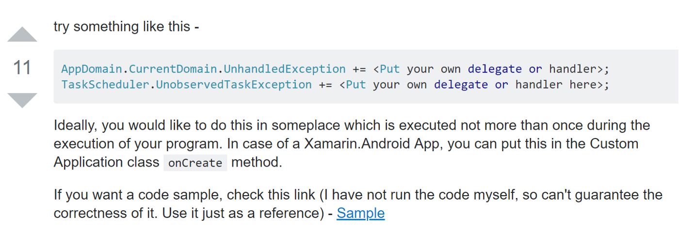 Xamarin Forms: how to troubleshoot Android crashes when all you see