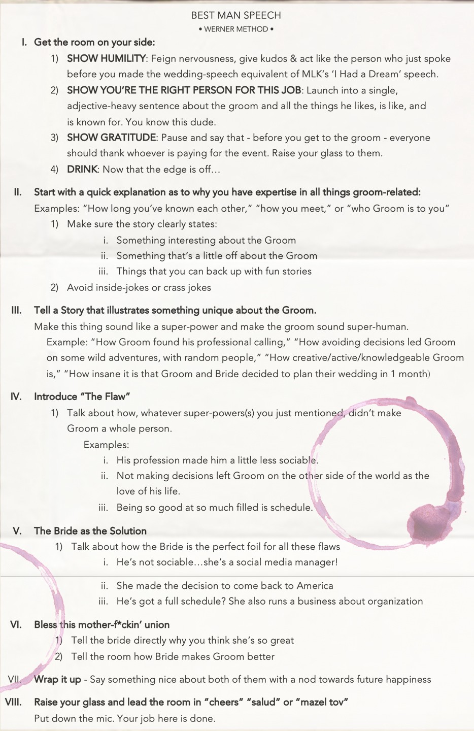 Wedding One Liners For Speech