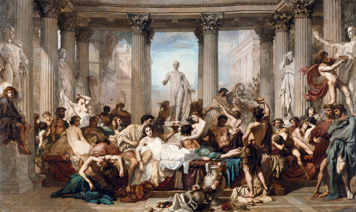 Romans during the Decadence, by Thomas Couture (1847)