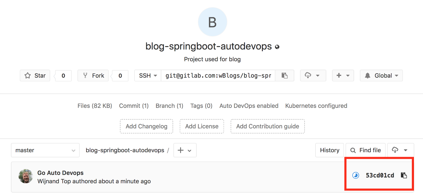 GitLab's Auto Devops: Java spring boot with quality control to