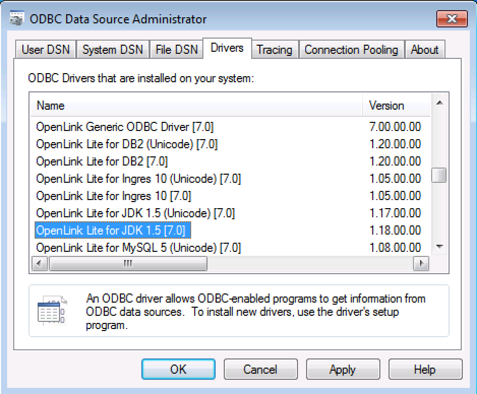 Installing & Using the OpenLink Lite Edition ODBC–to–JDBC Bridge