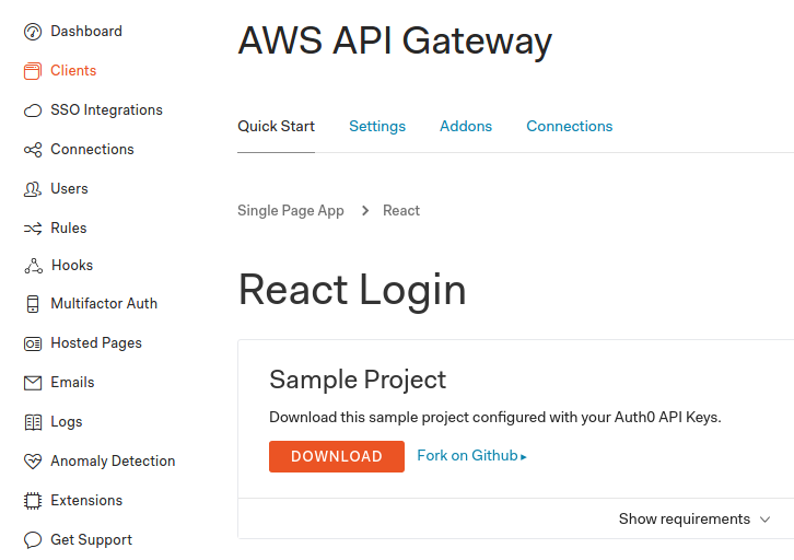 Create a ReactJS client with Auth0 for a Serverless application
