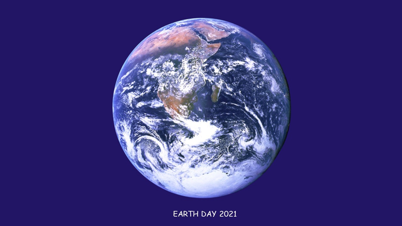 View of earth from space. Celebrating Earth Day 2021.