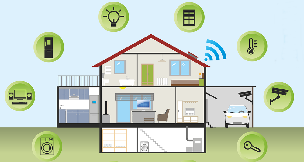 A Smart home can consist of many connected devices.