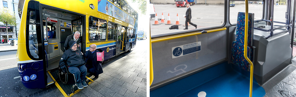 Buses in Dublin has wheelchair access