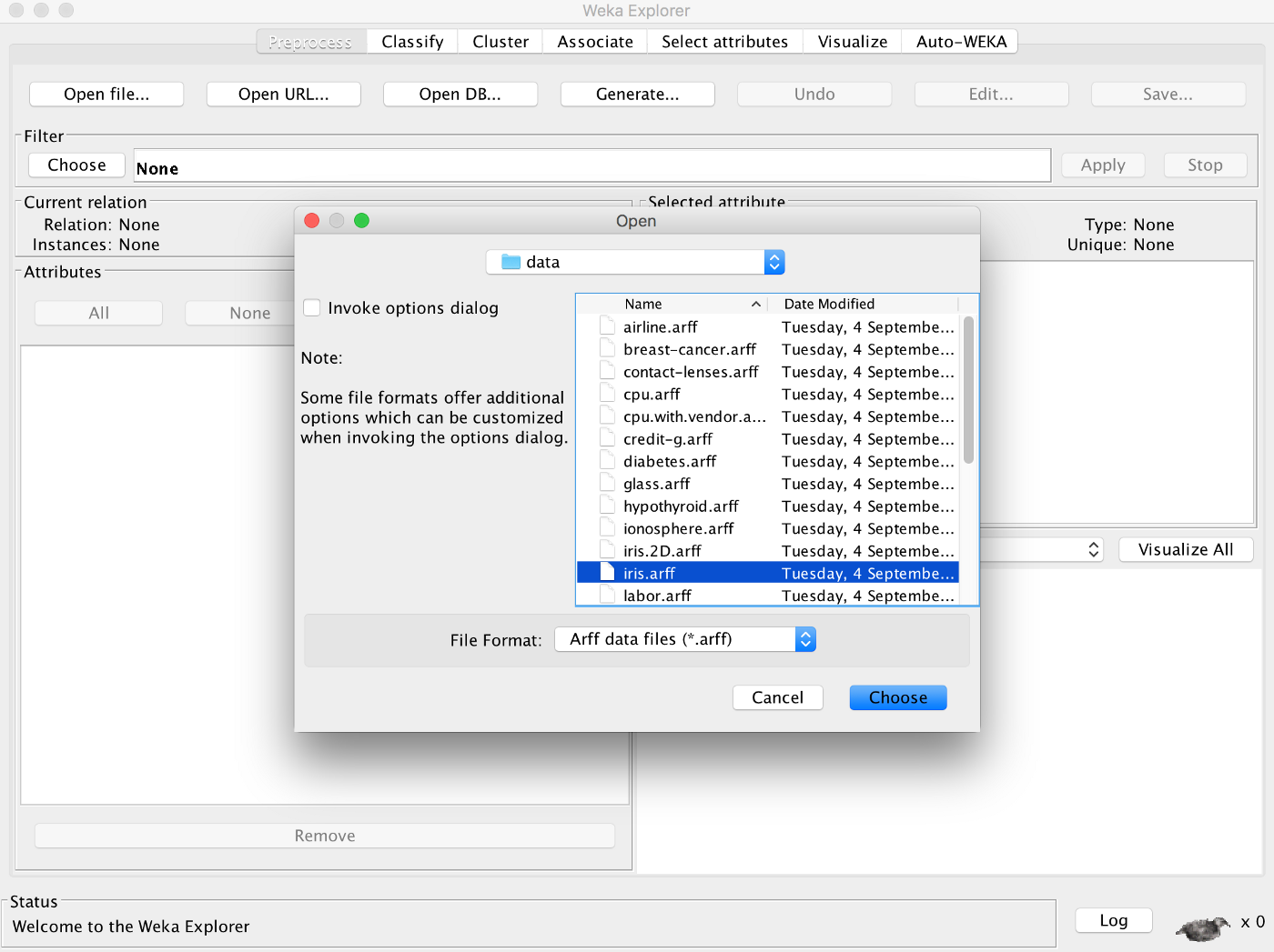 Getting Started With Weka 3 — Machine Learning on GUI