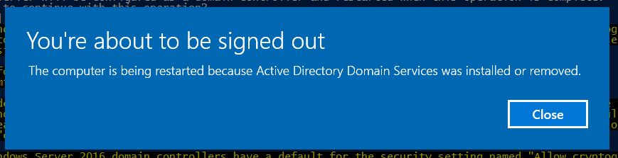 Install AD DS, DNS, and DHCP using Powershell on Windows Server 2016
