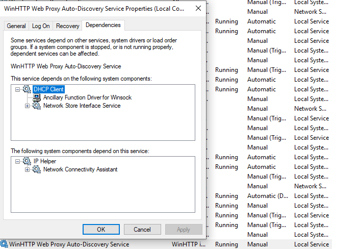 DHCP CLIENT DEPENDS ANCILLARY FUNCTION DRIVER FOR WINDOWS 8