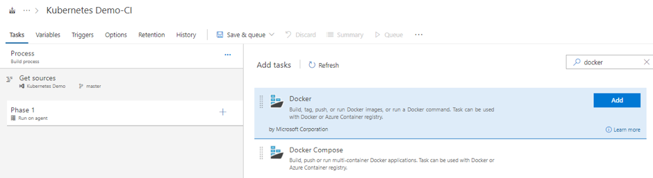 A CI/CD pipeline using VSTS to deploy containerized applications to