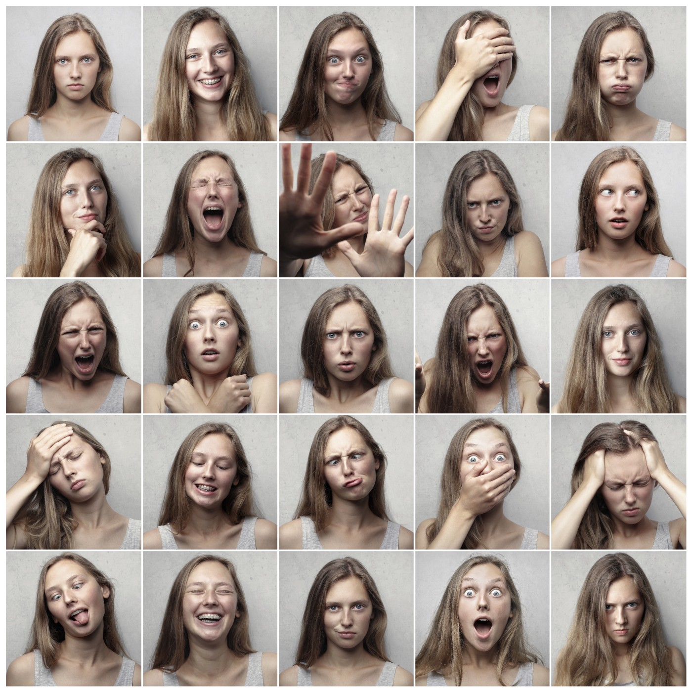 Photo of various emotions.
