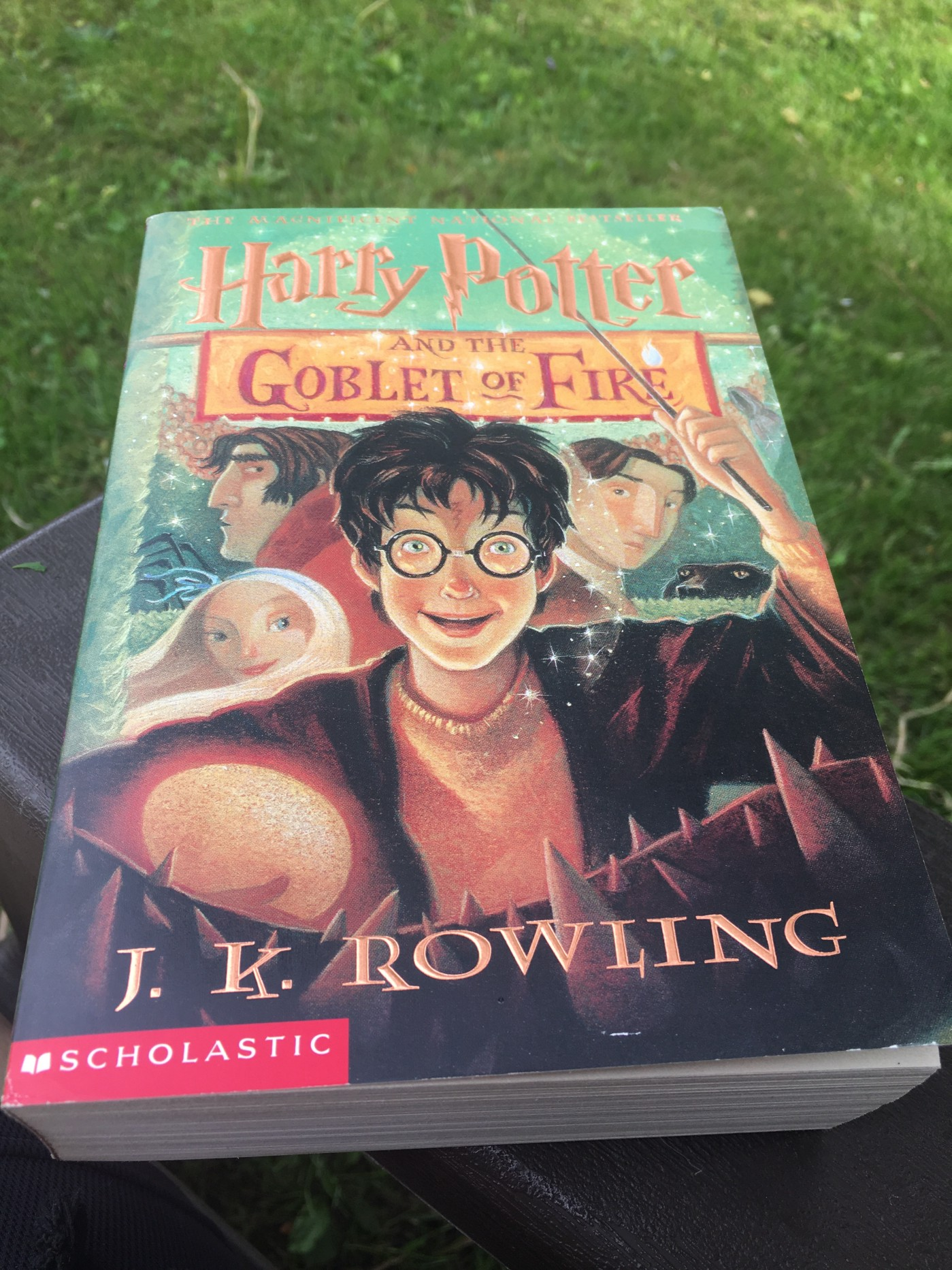 Paperback copy of Harry Potter and the Goblet of Fire