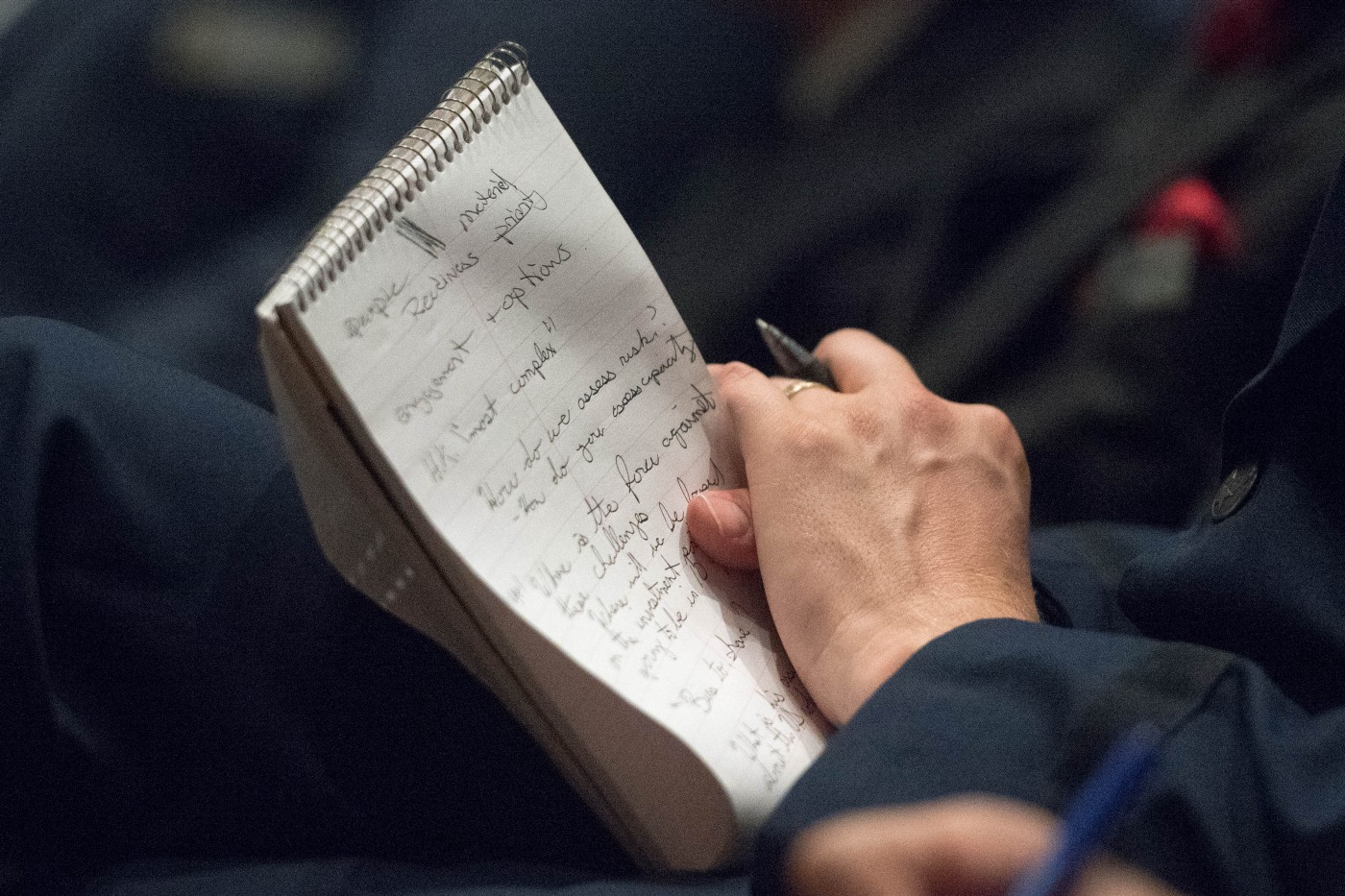A University student taking notes