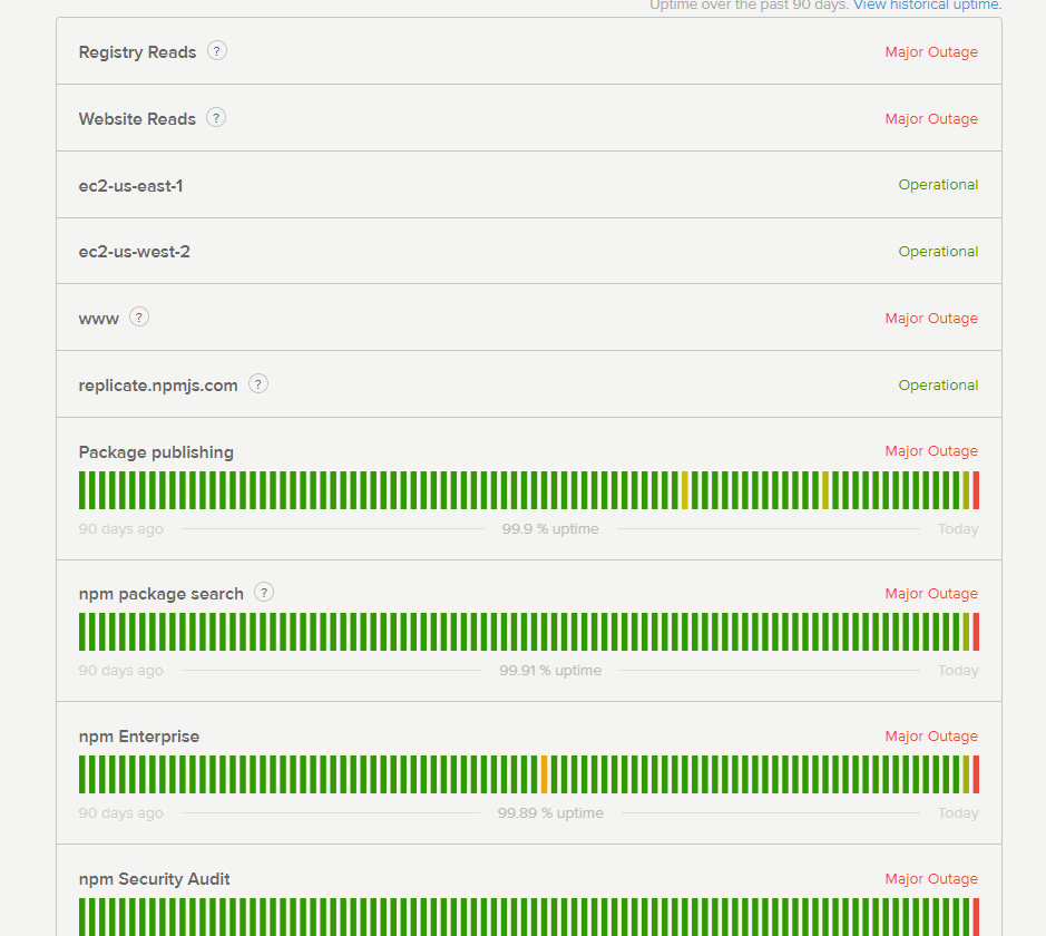 NPM Power outage