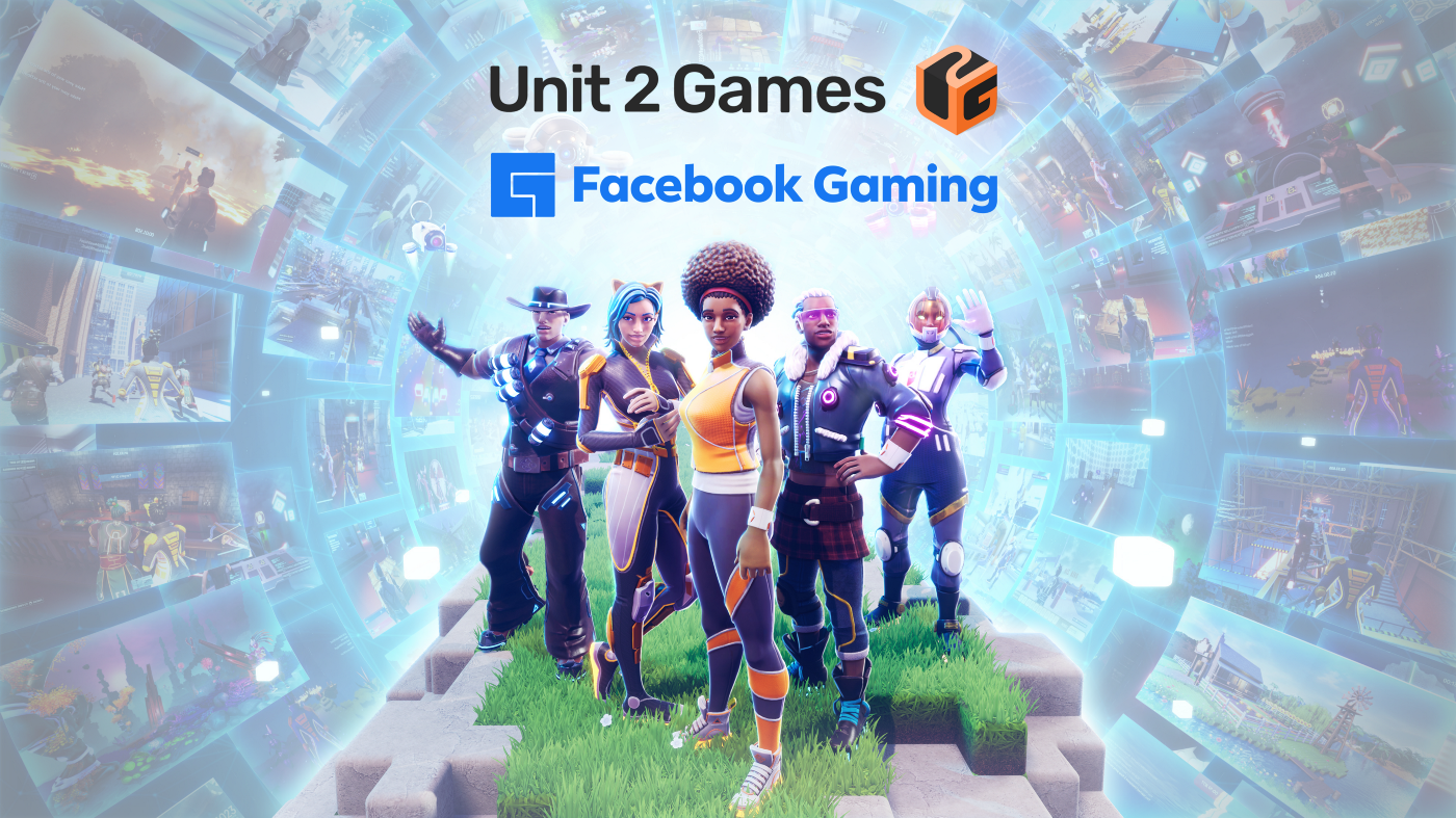 Crayta key art, showing many types of building blocks, characters and environments