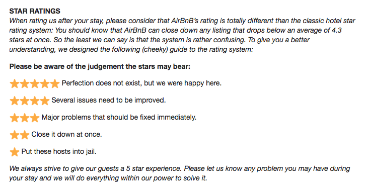 How to avoid the dreaded 4-star review: A guide for AirBnB hosts