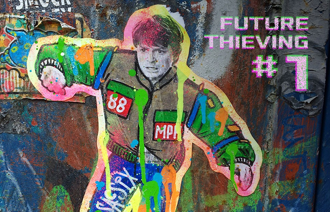 Photo of graffiti of Michael J Fox in Back To The Future — by Naomi Tamar at Unsplash