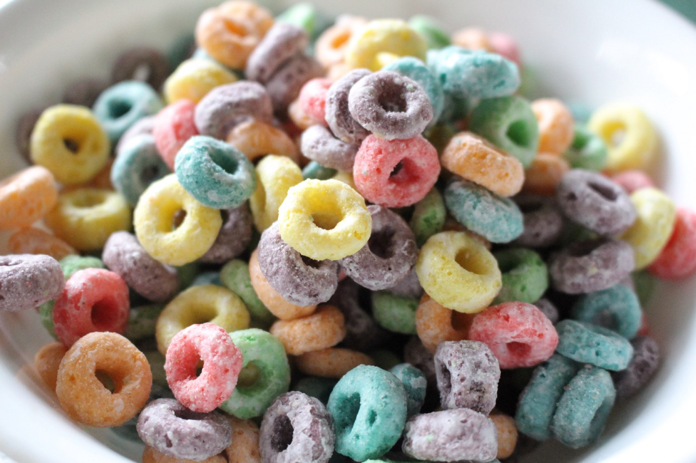 close-up of Froot Loops
