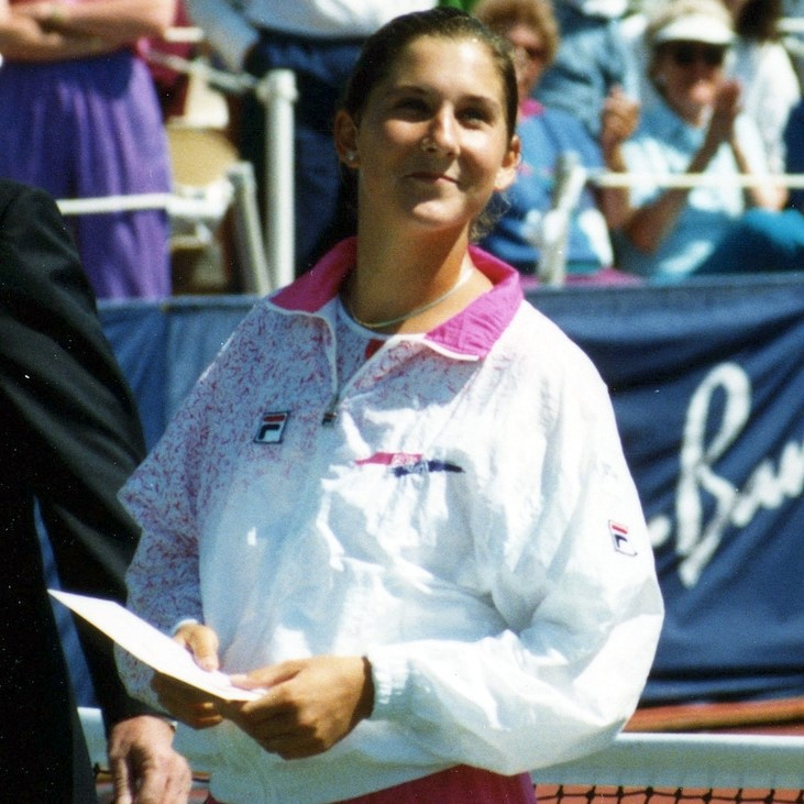 Runner-up Monica Seles at the 1991 U.S. Women's Hard Court Championships in San Antonio