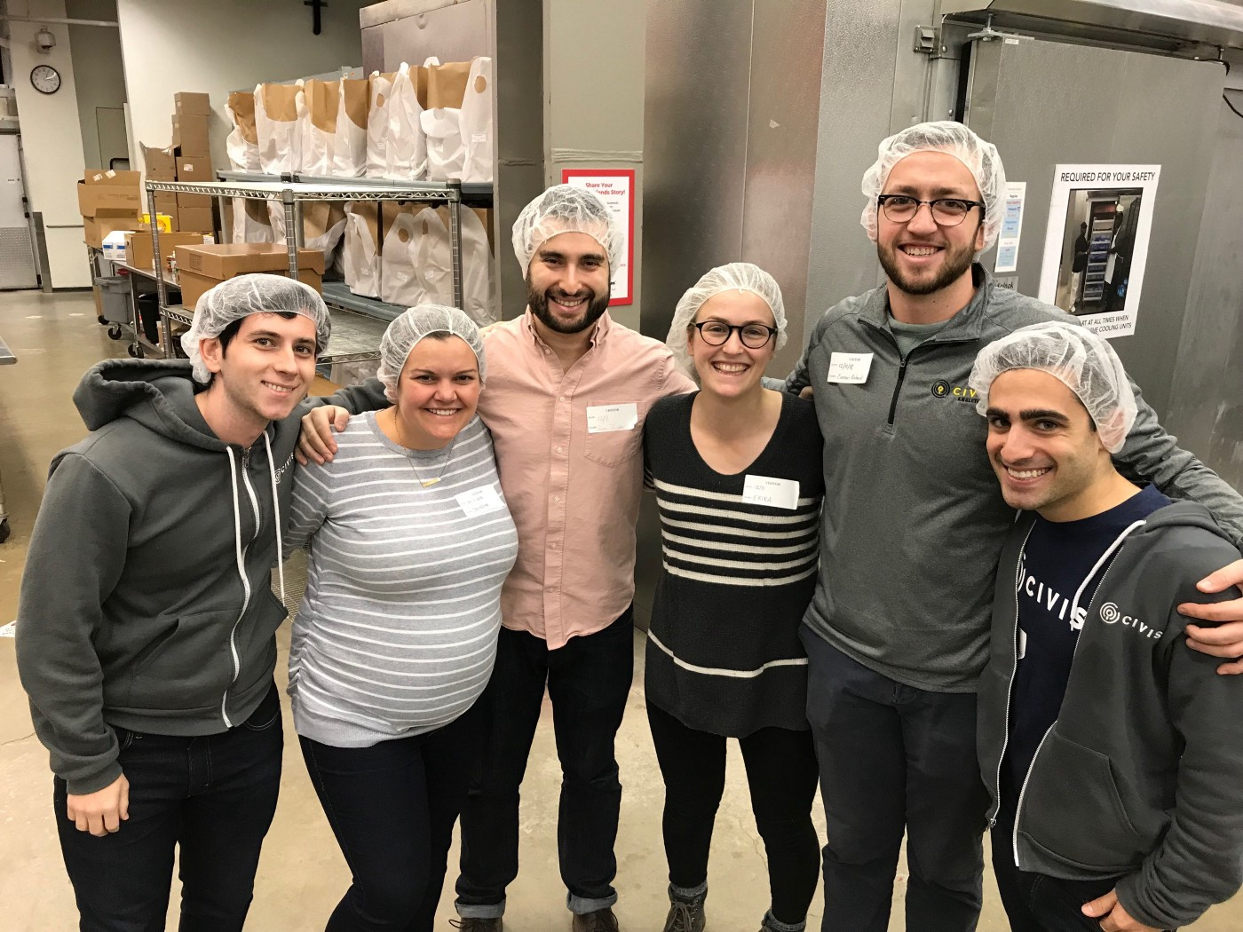 Civis employees in Washington D.C. volunteer day at Food and Friends