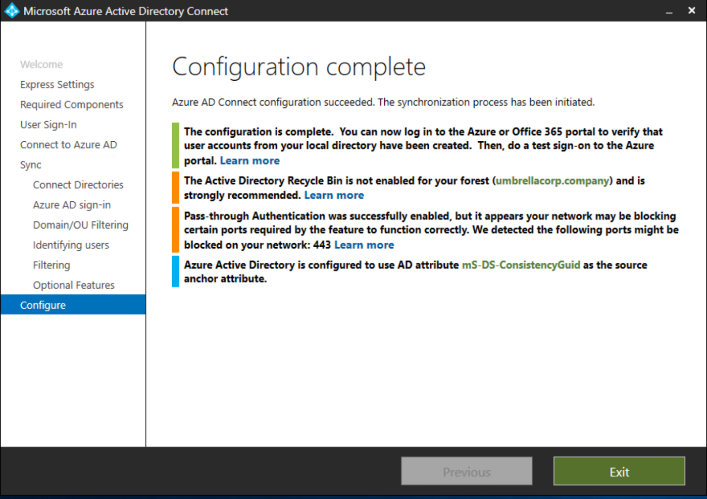 Configuring Pass-Through Authentication in Azure Active Directory