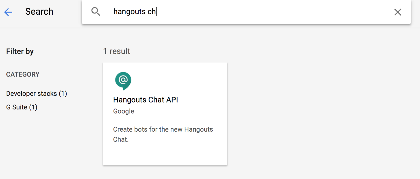 Tutorial : Write a Hangouts Chatbot powered by Google Cloud Functions