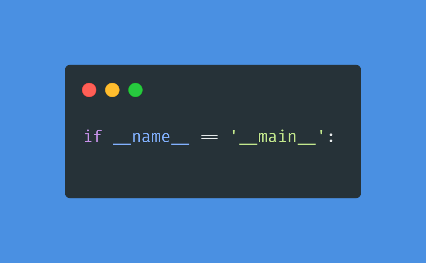 the statement if_name_=='_main_':