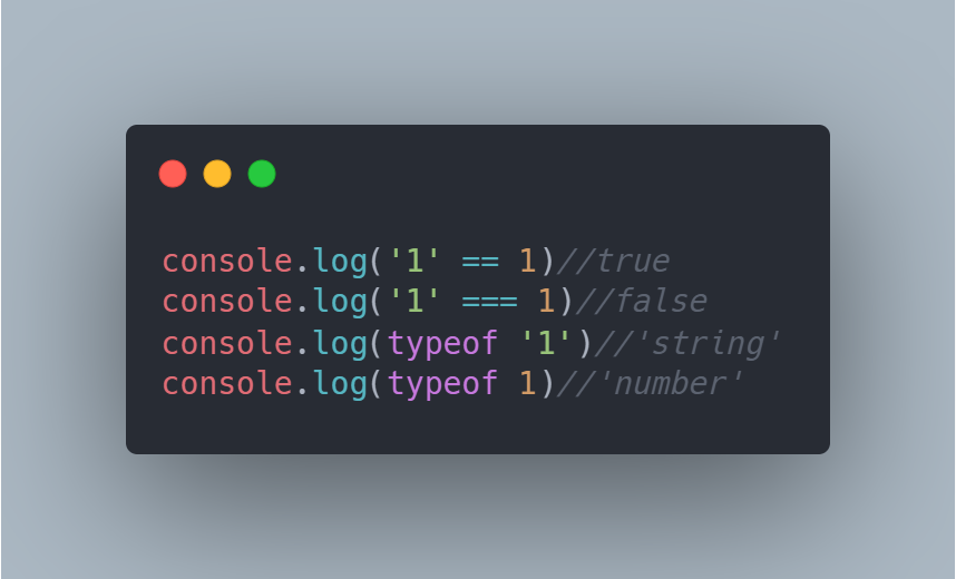 Example: In Javascript, the data types matter only when the use of the comparator ===.