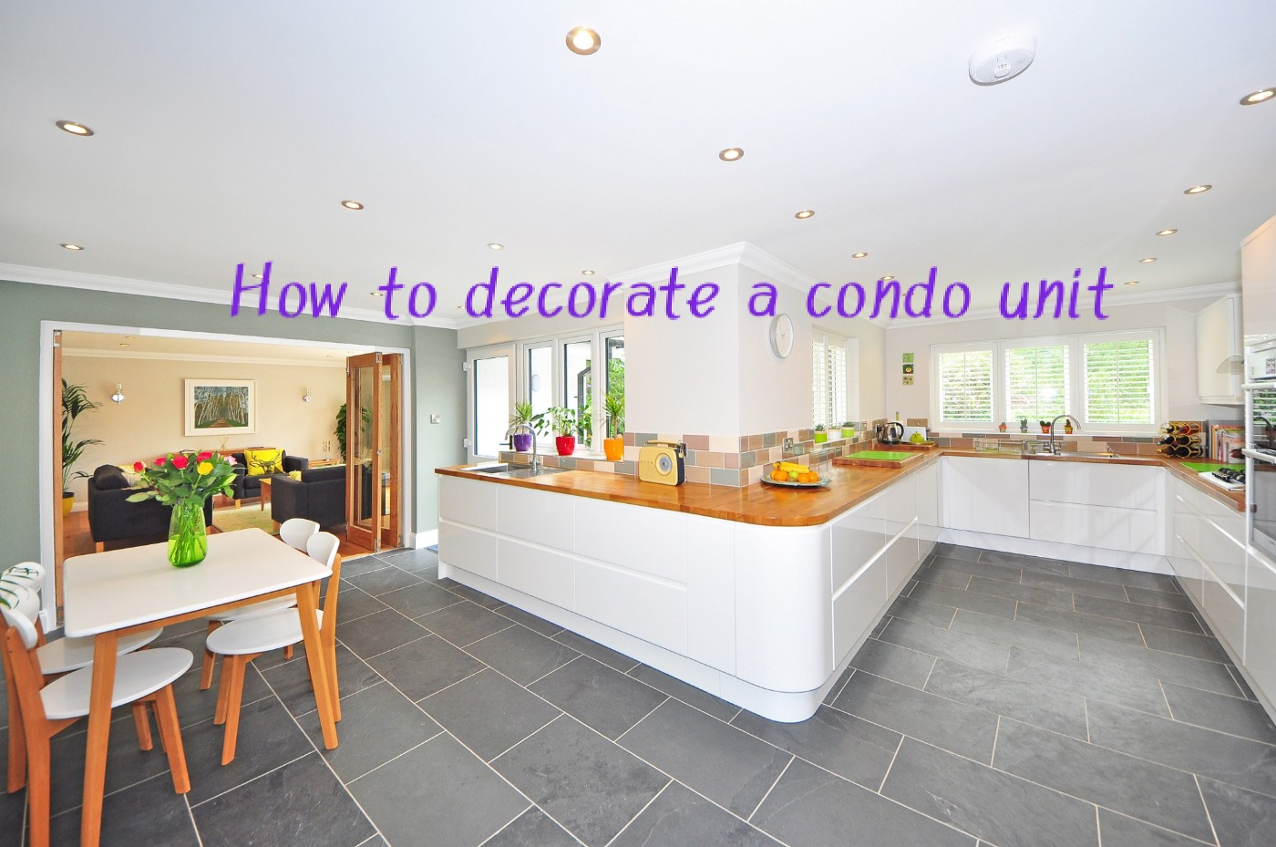 How to decorate a condo