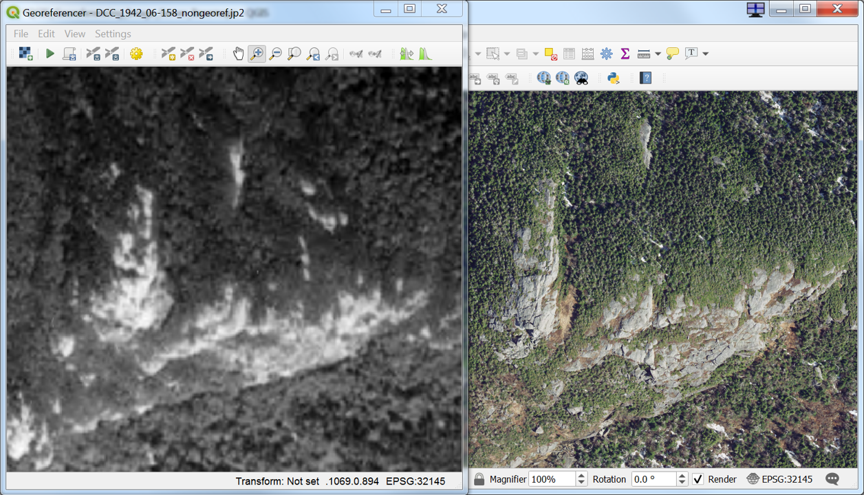 Georeferencing Vermont's Historic Aerial Imagery in QGIS: How-to and