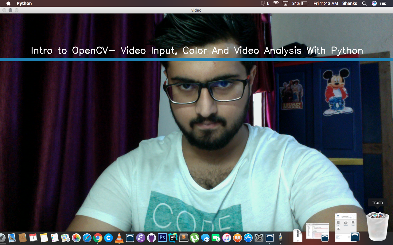 Intro to OpenCV- Video Input, Color And Video Analysis With Python