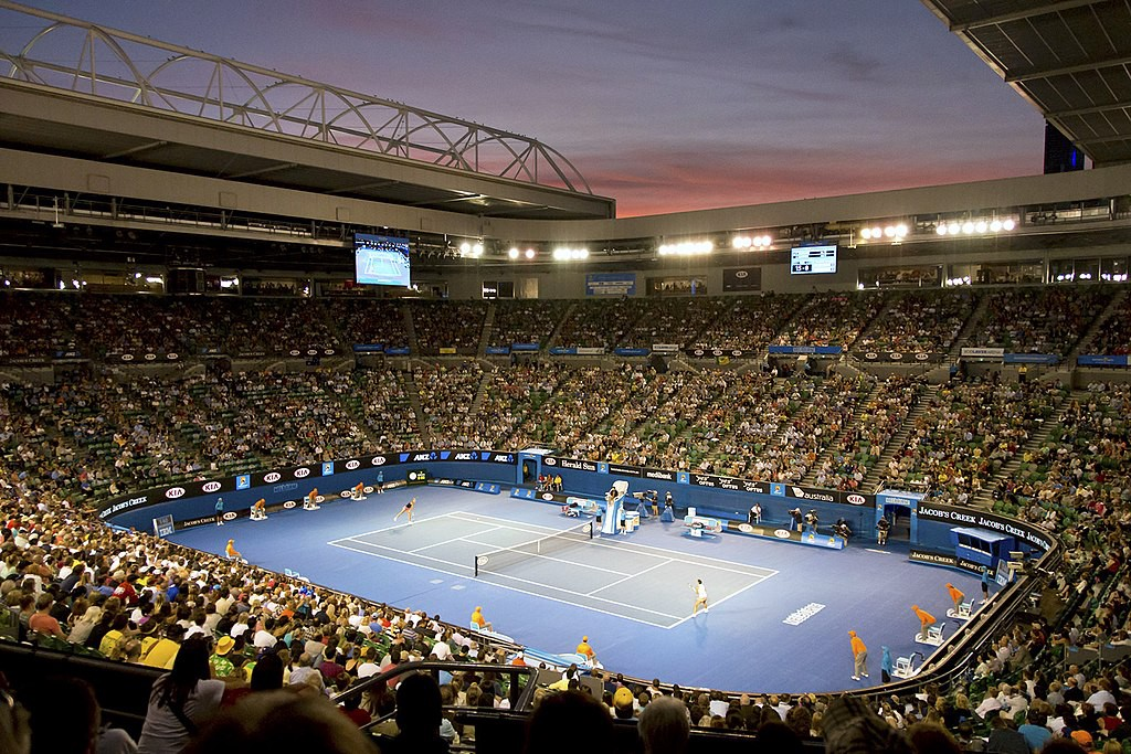 Rod Laver Arena at the Australian Open.