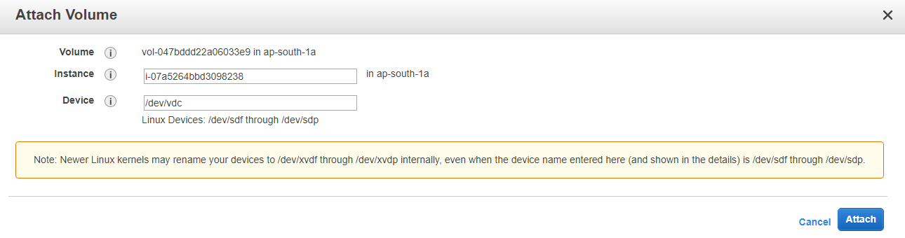How To Attach And Permanent Mount An EBS Volume To EC2 Linux Instance
