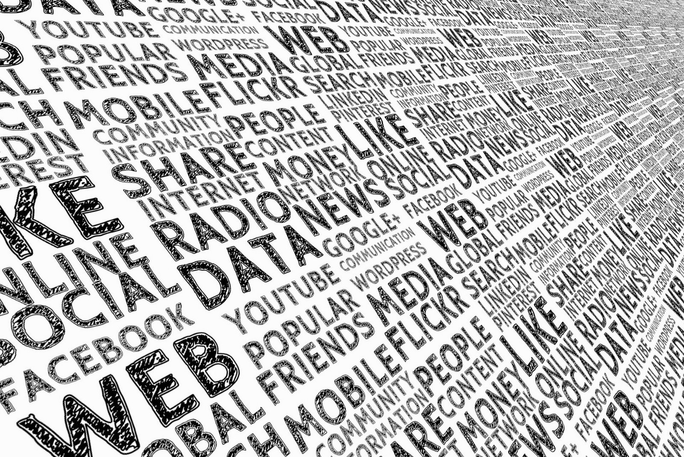 Photo by gerd altmann of words data, radio, web, etc. Photo on Dr. James Goydos 2020 article on clinical trials and data