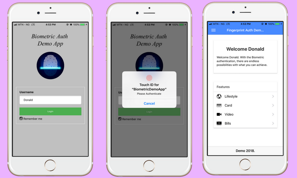 Biometric Authentication (Face & Fingerprint) on iOS and Android