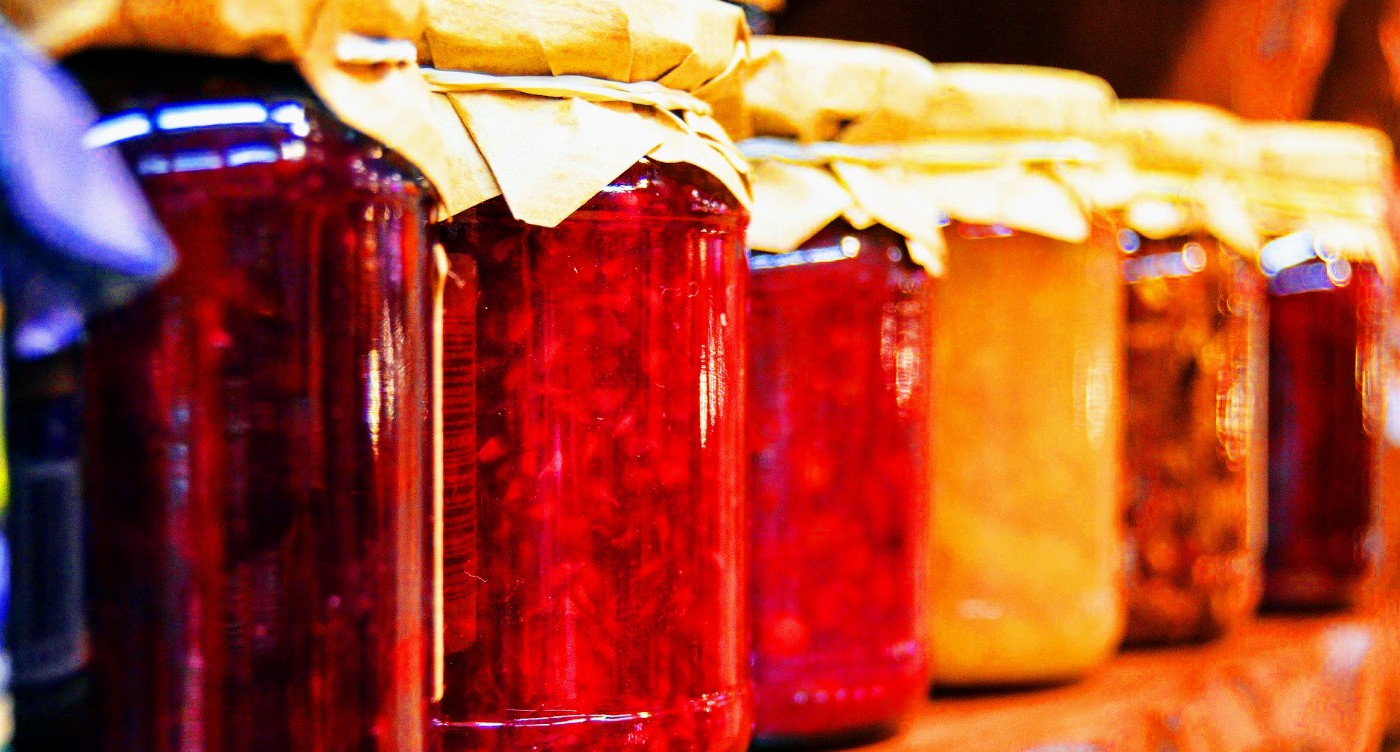 Jars of the best home-made jam