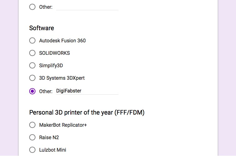 3D Printing Industry Awards - Digifabster