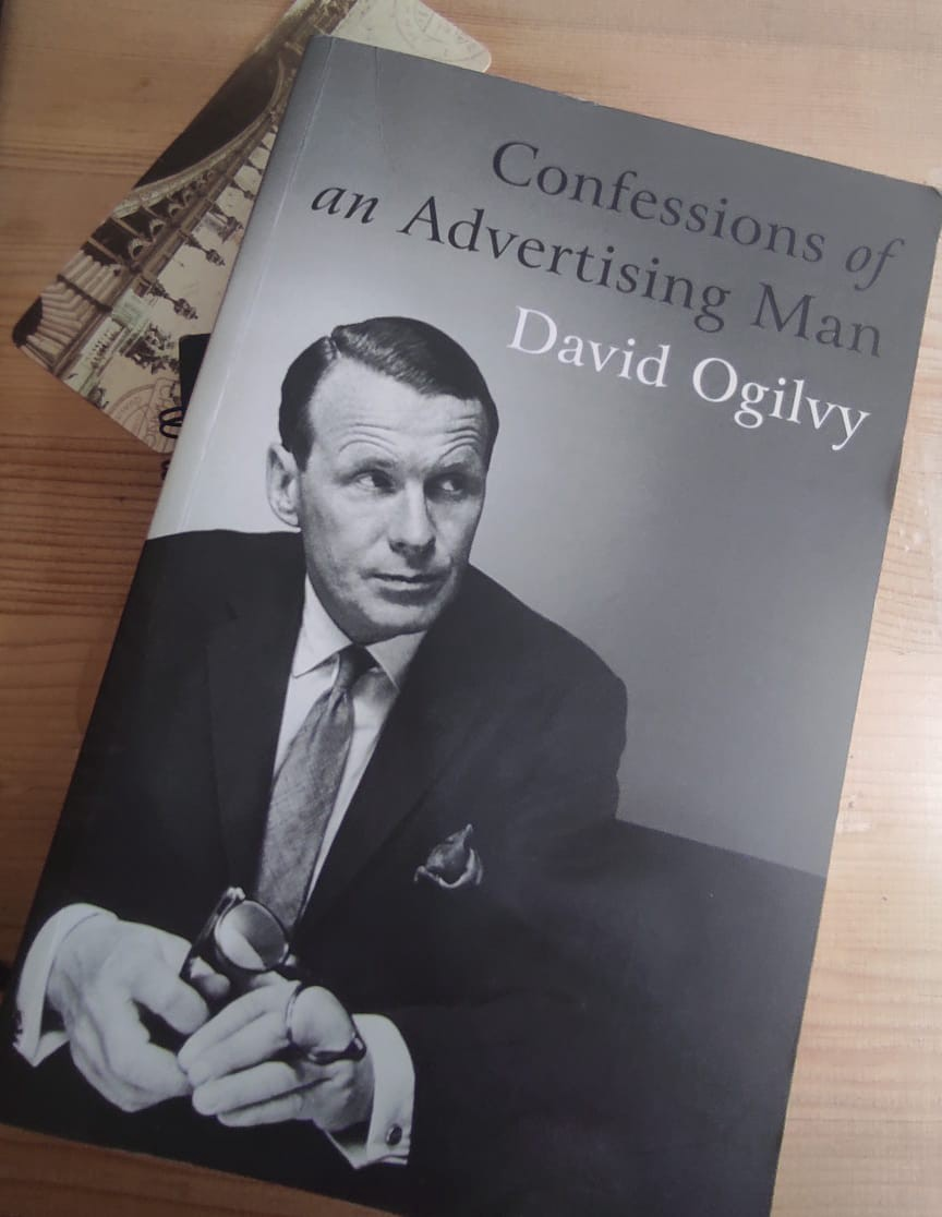 Confessions of an advertising man by David ogilvy—a must-read book for all beginner copywriters