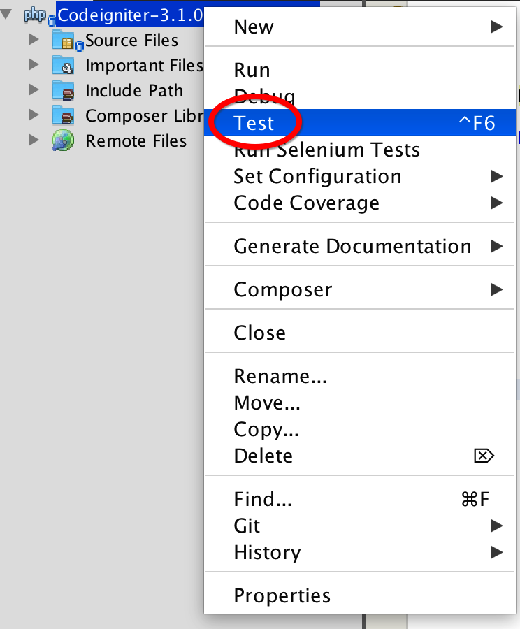 Getting start with CIPHPUnitTest : setup and run unit testing in