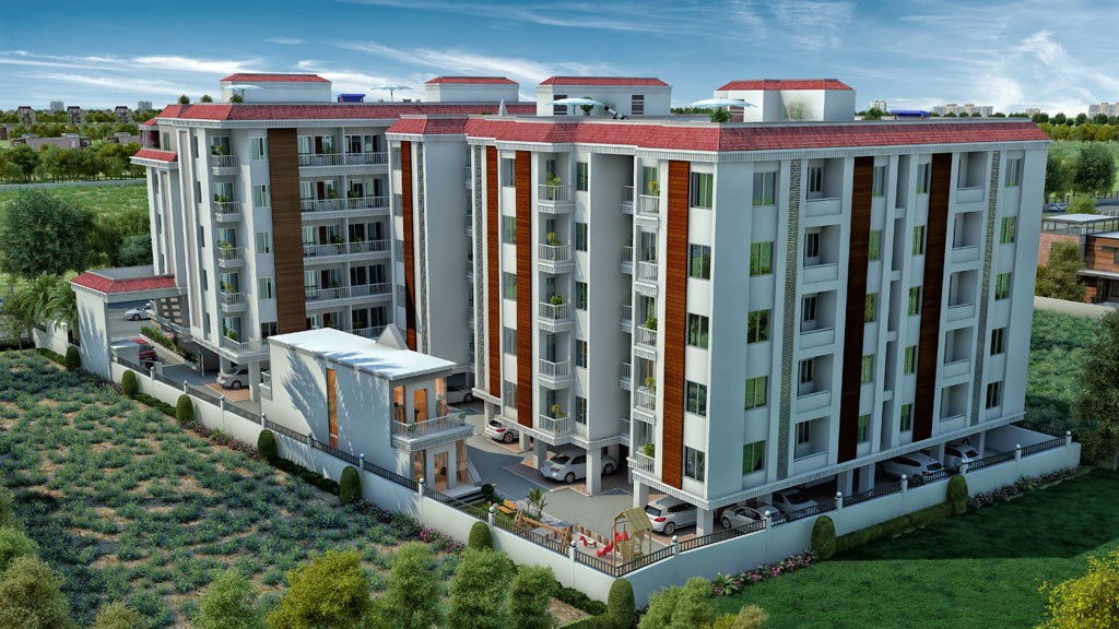 Stone Gate Furnished Apartment Building Shops At Vadodara