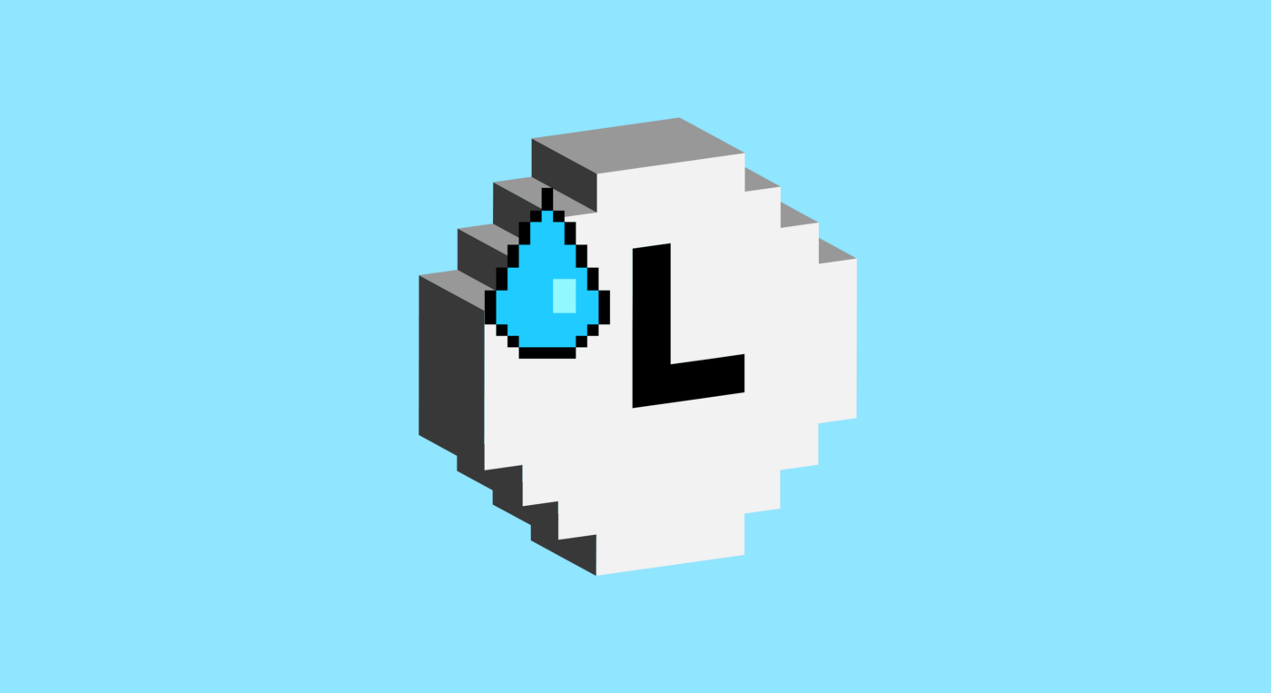 16-bit image of a clock with a bead of sweat