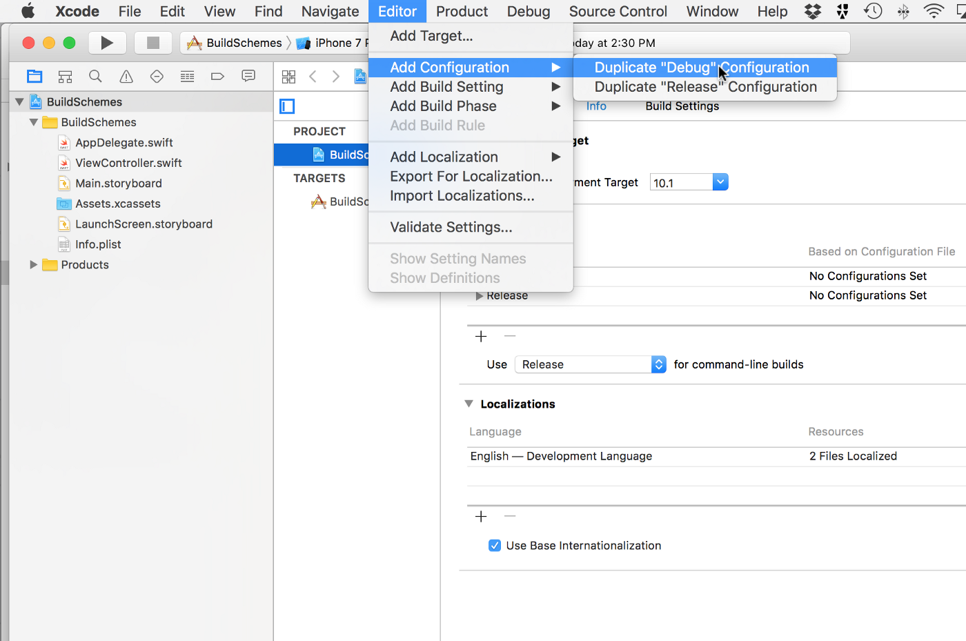 Some Practical Uses for Xcode Build Schemes and Build Configurations