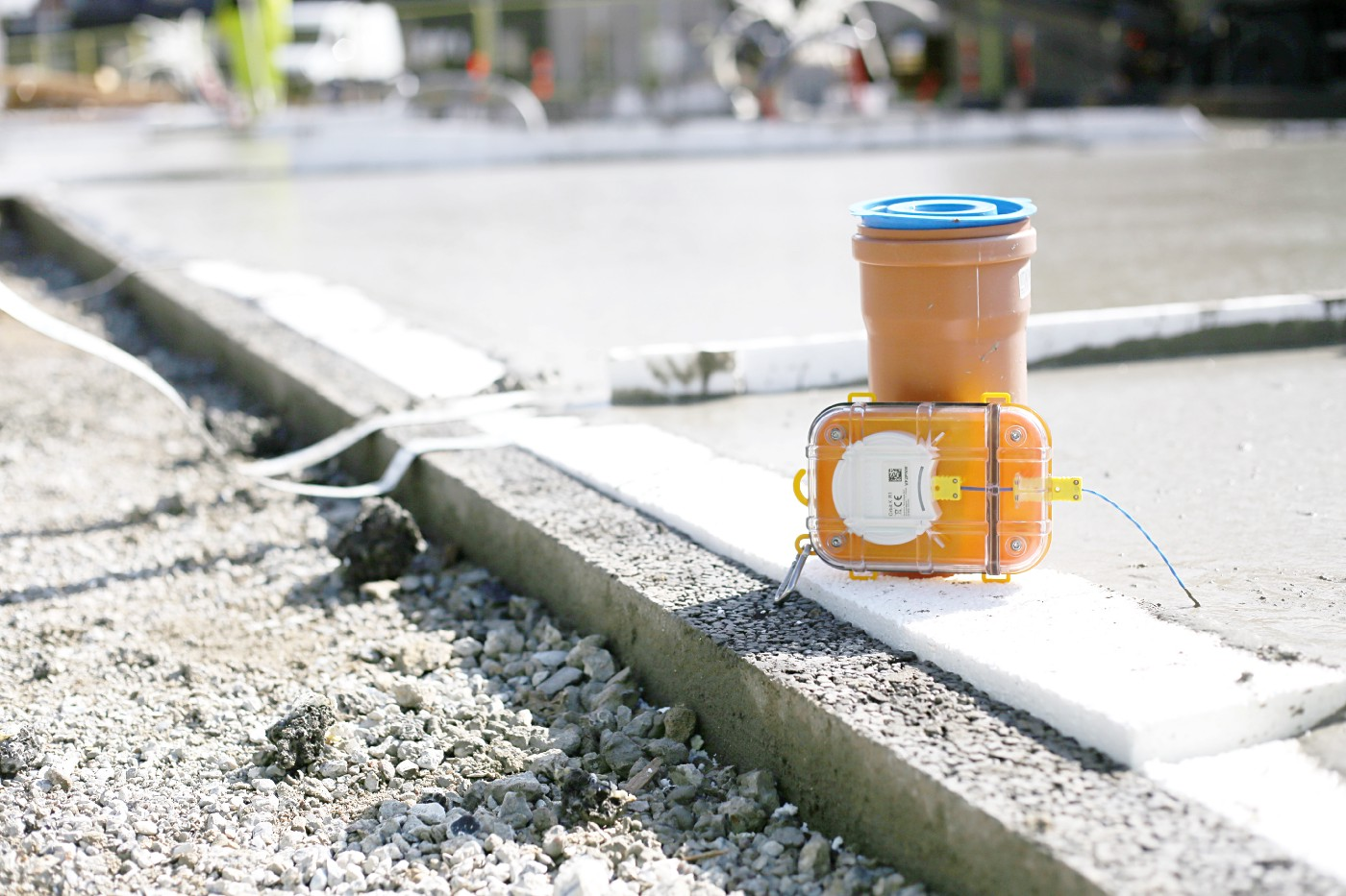 Maturix Sensors are attached to a structure, providing streamlined concrete thermal monitoring.