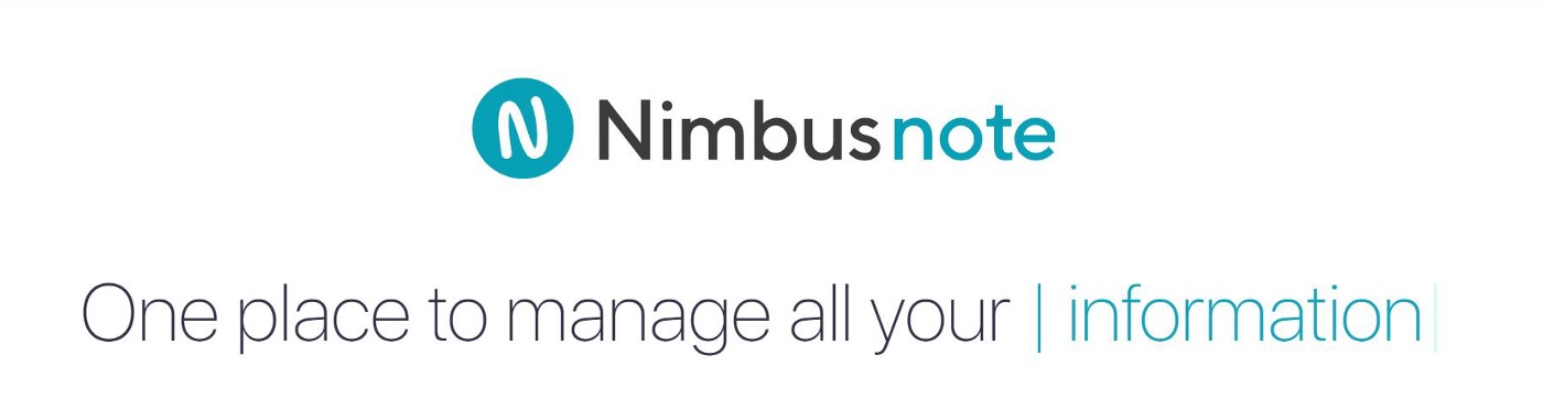 Screenshot from Nimbus Note